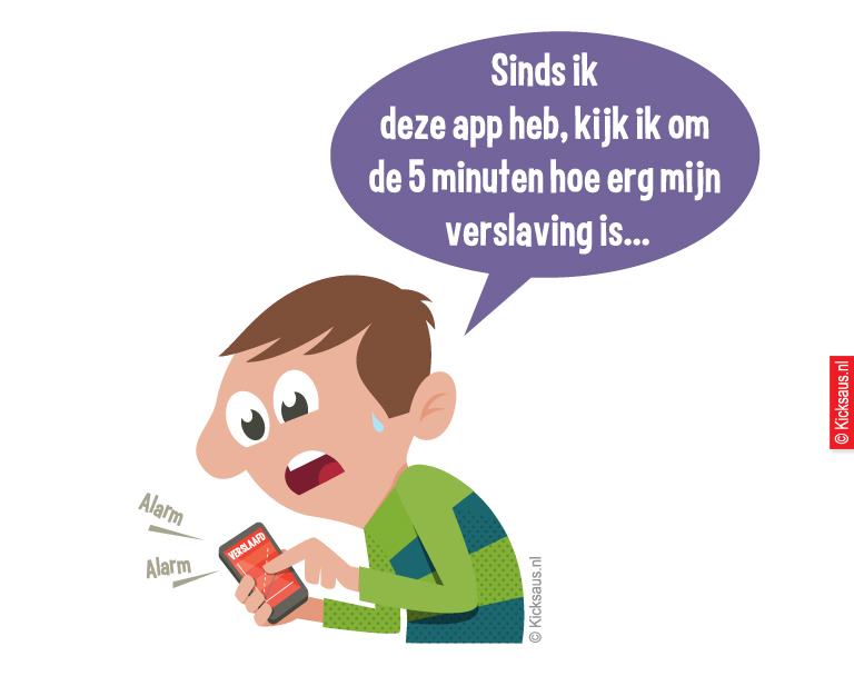 KICKSAUS_CARTOON_VERSLAVINGS_APP_CONSUMENTENBOND