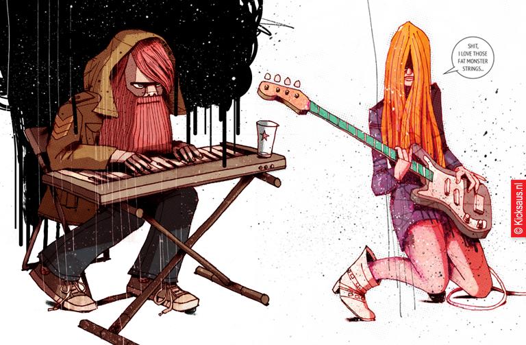 KICKSAUS_DRAWING_MUSICIANS